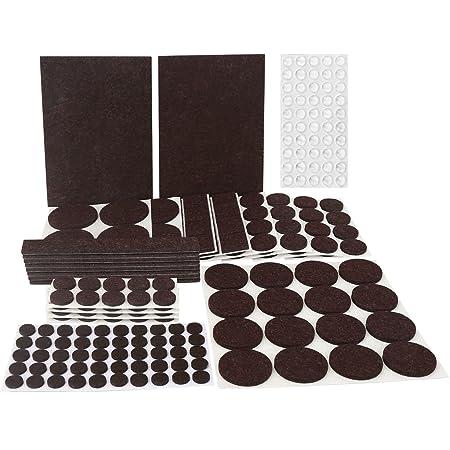 Filzgleiter set, 246-Teilig Matdom Filzgleiter Sortiment, Filzunterleger,9 Größen Möbelgleiter für Möbel, Stühle und Tische,