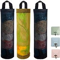 JEZOMONY Soporte para Bolsa de plástico 3 Bolsa de Basura de Malla Dispensadores de Almacenamiento Colgantes Plegables…