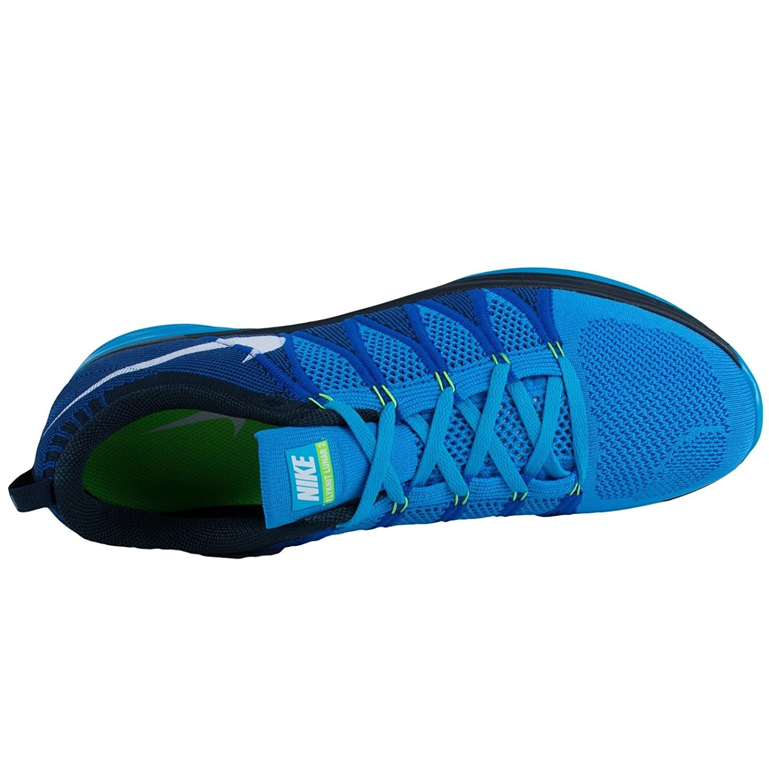 sports shoes 4b0a9 41176 Nike Flyknit Lunar2 Mens Running Shoes 620465-414 Vivid Blue White-Game  Royal-Dark Obsidian 12 M US  Buy Online at Low Prices in India - Amazon.in