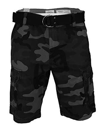 Trinity Men s Belted Cargo Shorts (40 b4cf4c3514c