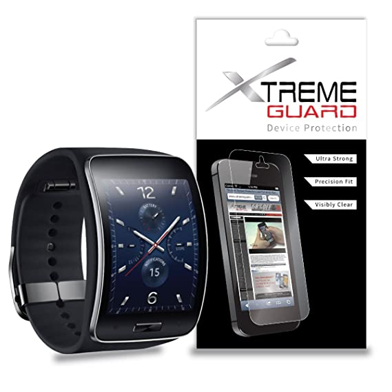 XtremeGuard Screen Protector for Samsung Gear S Smartwatch (Ultra Clear)