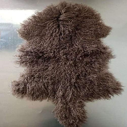 Genuine Tibetan Rug Mongolian Lamb Sheepskin Curly Fur Pelt Throw Fur Area Rug Carpet Chair Cover