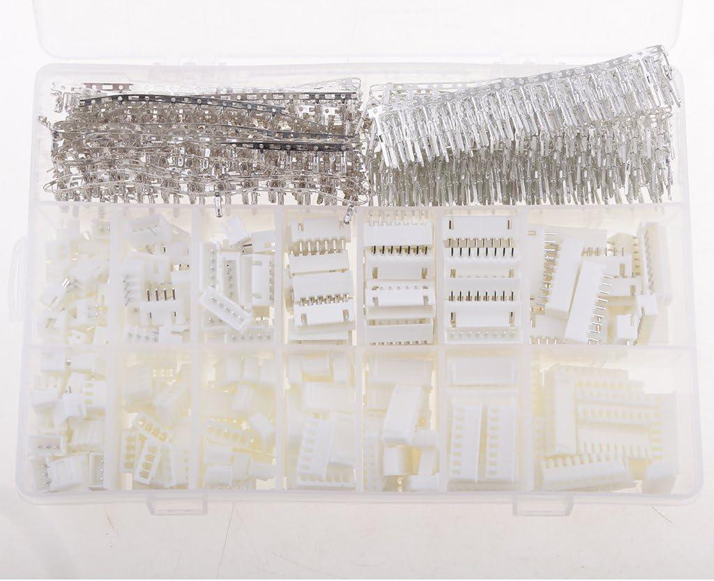 Sharplace 1220 Pieces 2.54mm XHPX Connector Terminal Header Assortment 2 3 4 5 6 7 8 9 Pin