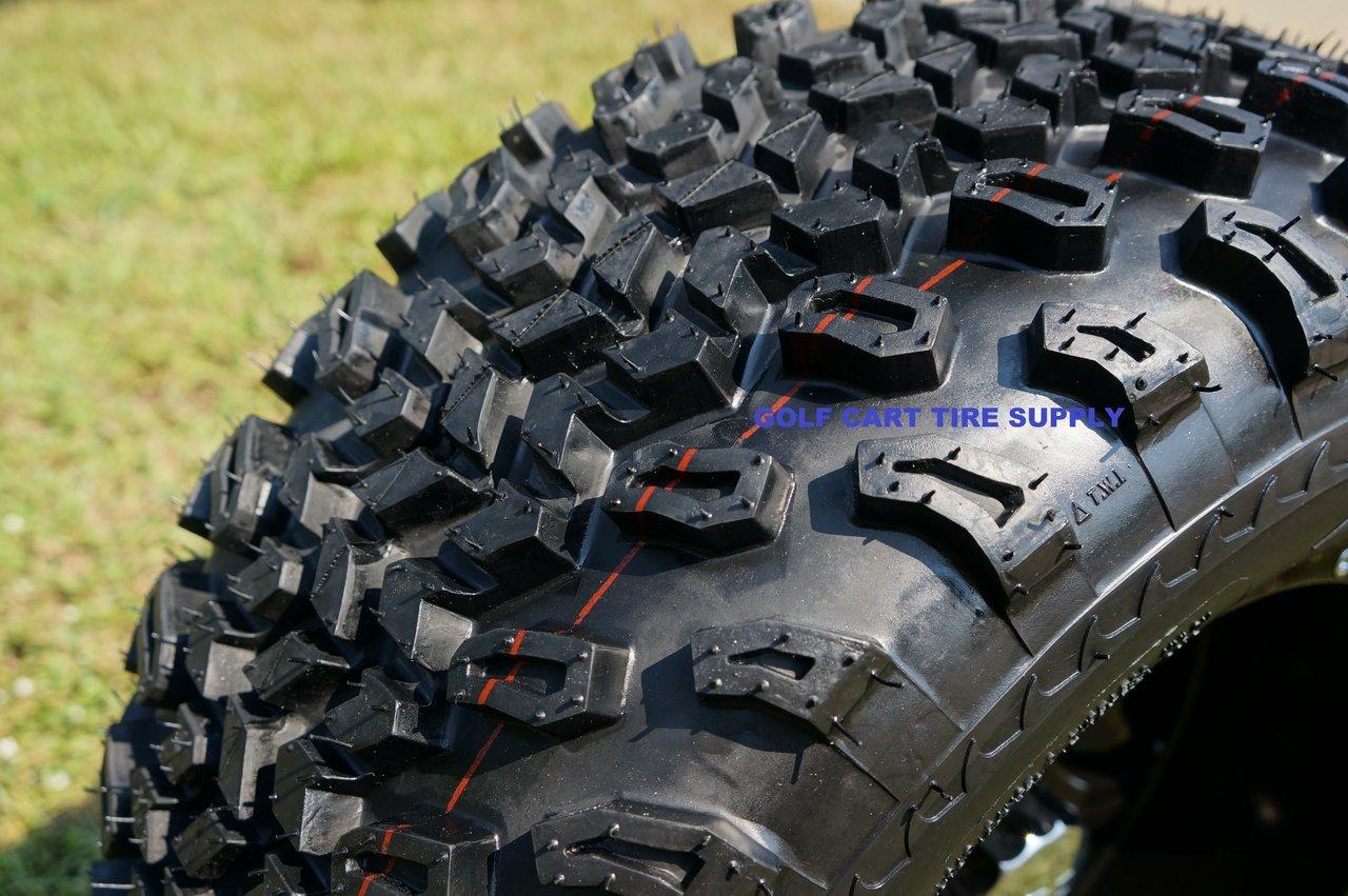 12'' Vampire Gunmetal Aluminum Wheels and 23X10.5-12'' All Terrain Golf Cart Tires Combo - Set of 4 by Golf Cart Tire Supply (Image #2)