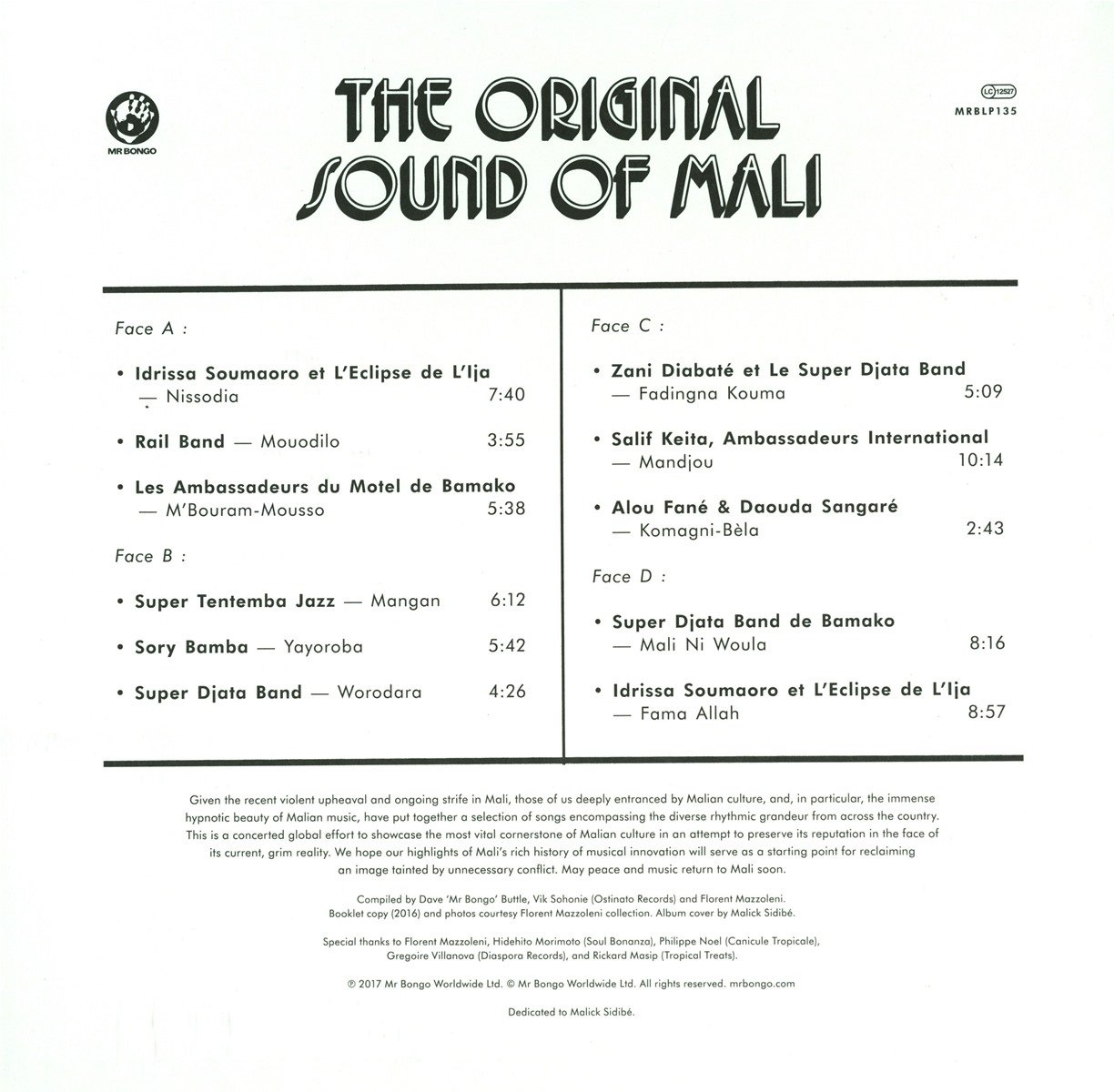 Original Sound Of Mali / Various by FAMILY