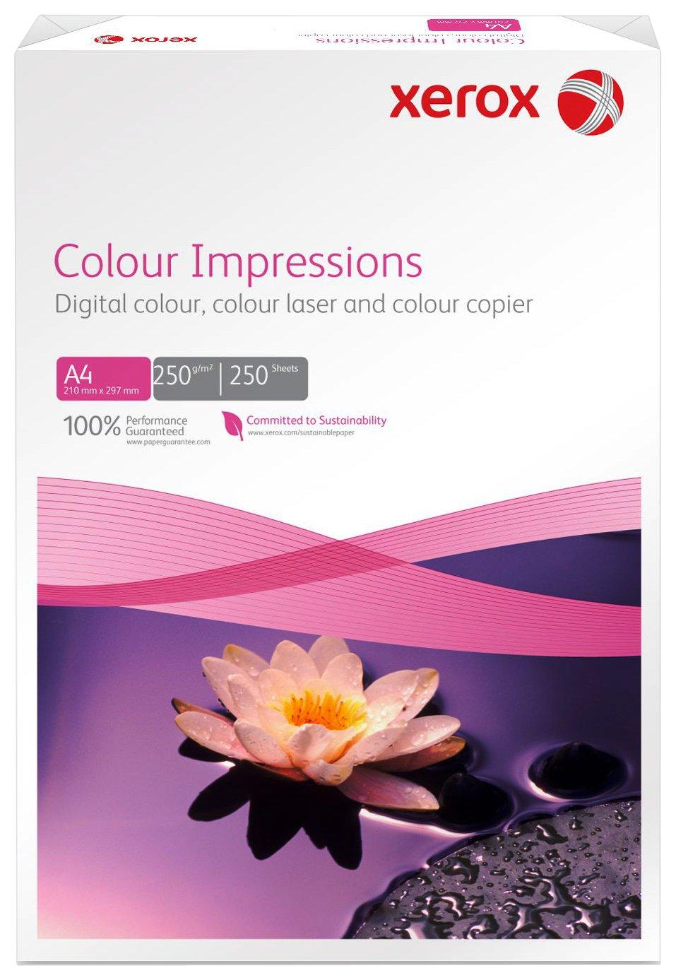 Xerox Colour Impressions 003R98687 - Carta Premium per stampanti laser e a getto d'inchiostro DIN A4 250 g/m², colore: Bianco (Confezione da 250)