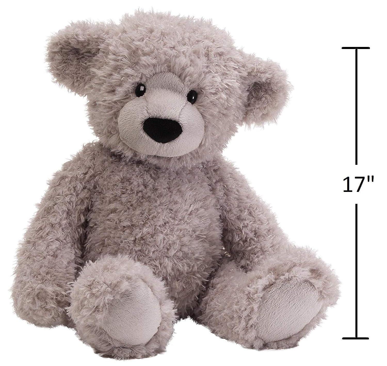 GUND Dijon Grey Teddy Bear 17 inch Plush Furry Stuffed Animal
