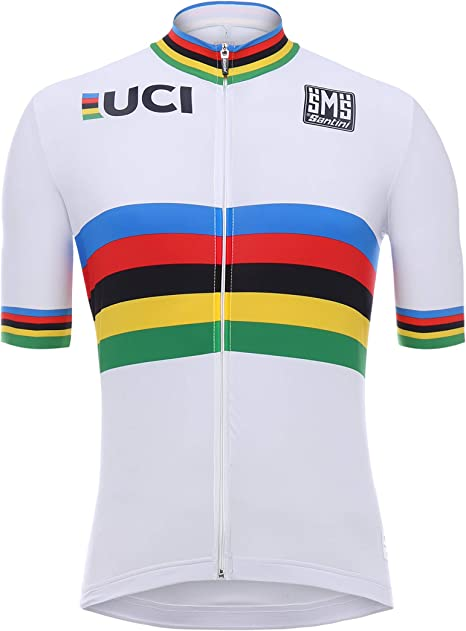 Santini UCI Maglia Manica Corta Uomo