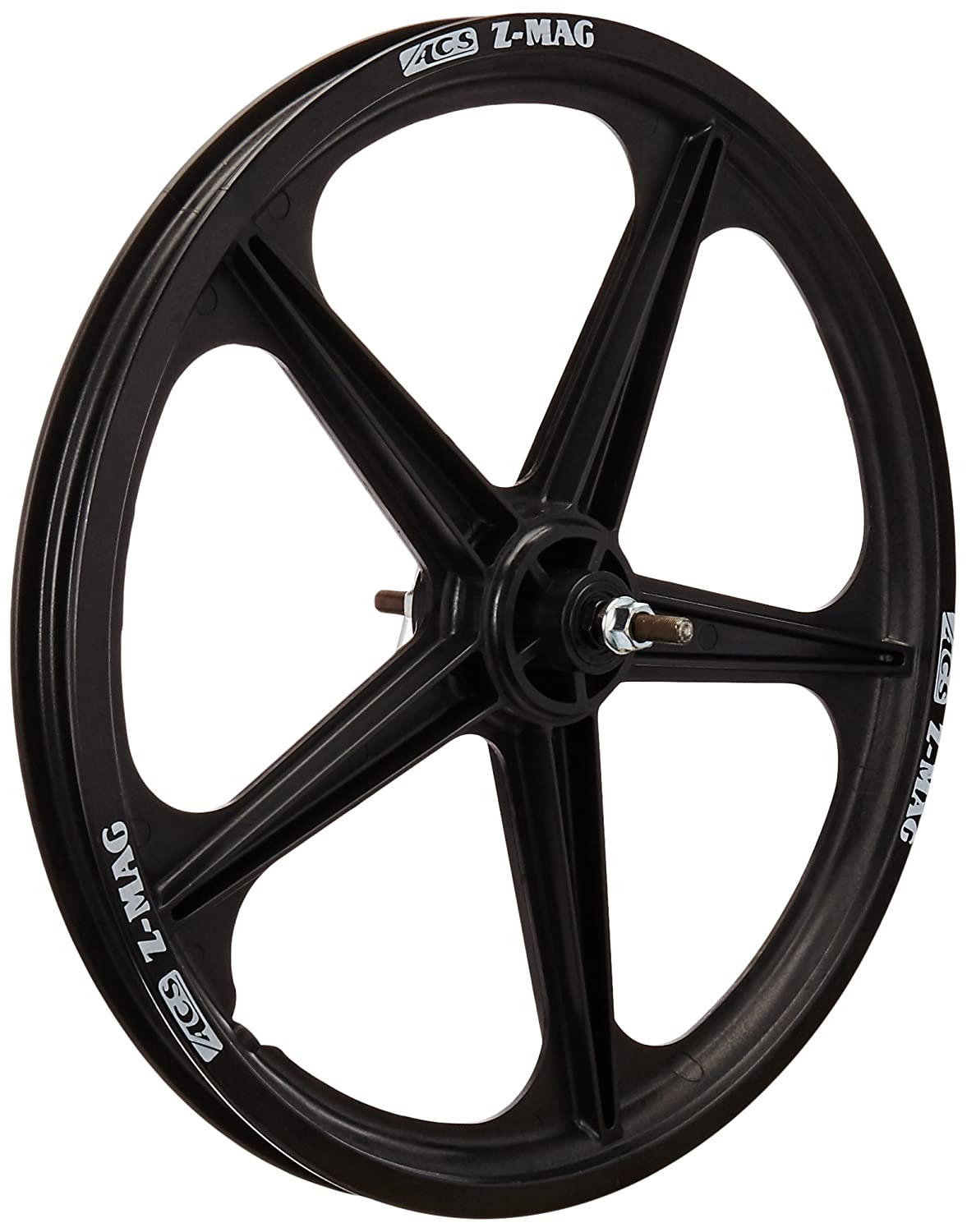 Amazon.com : ACS Mag 5-Spoke Front Wheel, Black : Sports Outdoors ...
