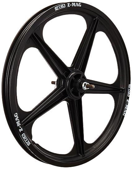 Amazon Com Acs Mag 5 Spoke Front Wheel Black Sports Outdoors