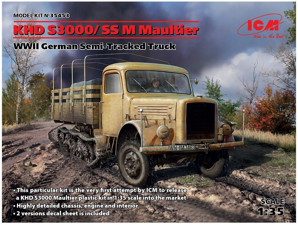 Hobbies ICM 35453 Model Kit Khd S3000/SS Tracked WWII German