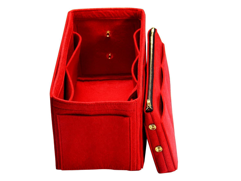 Customizable Purse Insert (3mm Felt, Detachable Pouch w/Metal Zip), Felt Tote Bag Organizer