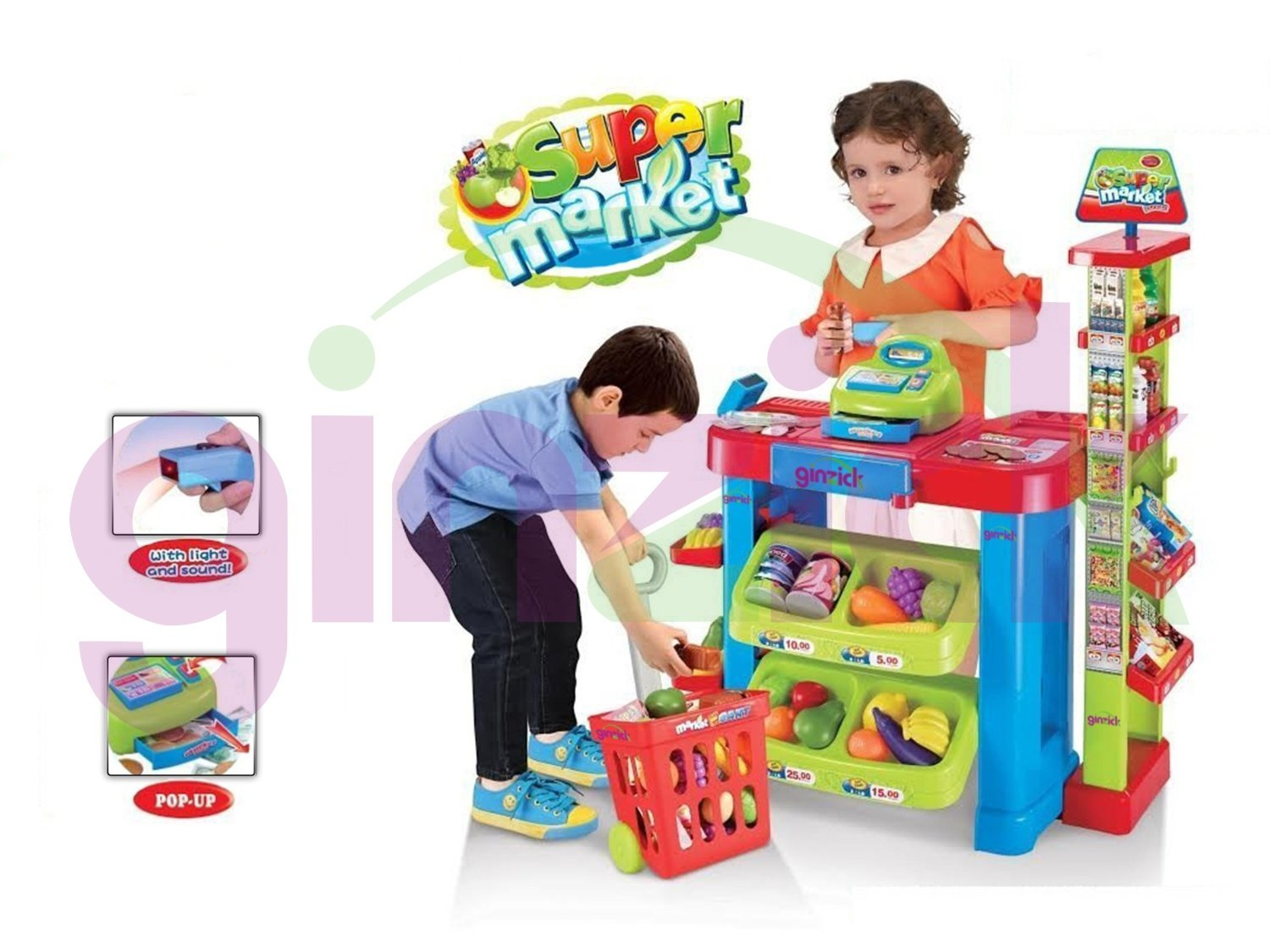 Amazon Ginzick Super Fun Kids Supermarket Playset Toys Games