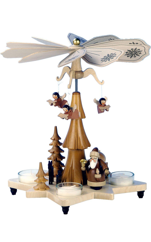 33-304 - Christian Ulbricht Pyramid, Santa in natural wood finish - 11''''H x 10''''W x 10''''D