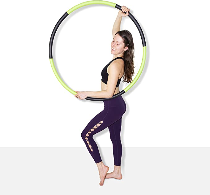 HANSON AND LANGFORD Weight Loss Hula Hoop GLITTER Hula Hoops For Adults Women Men Fitness Adult Hoola Hoop Exercise Dance Workout Equipment FREE SKIPPING ROPE