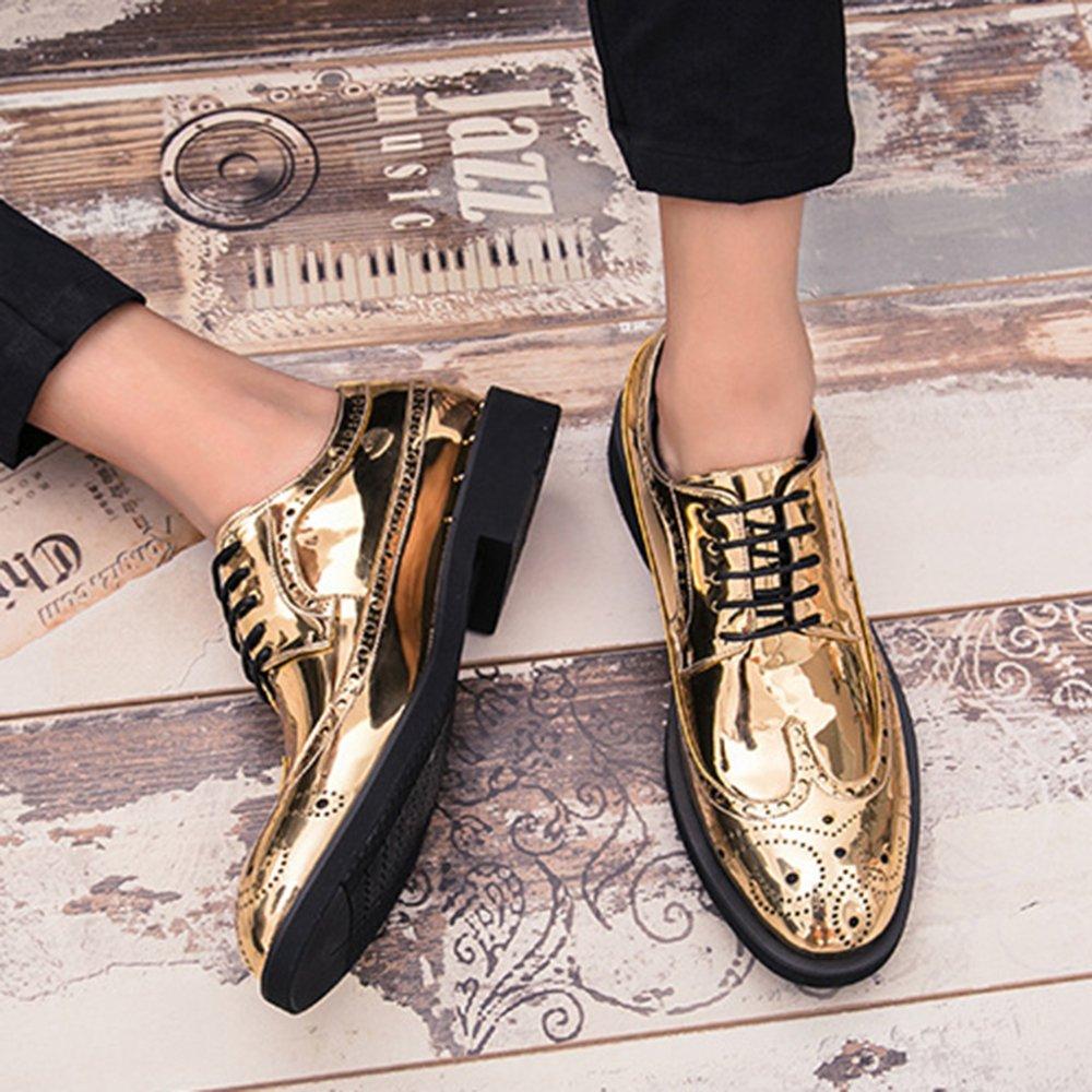 ... Herren Lackleder Vintage Brogue Schuhe Herren Schnürschuhe Derby  Hochzeit Größe Arbeit Business Formale Schuhe Größe Hochzeit ... d103fc9cce