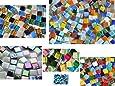 Mezcla para aprender: 560 piezas de piedras de mosaico, mezcla para manualidades de 6 tipos distintos, todos 1 x 1 cm, aprox. 410 g