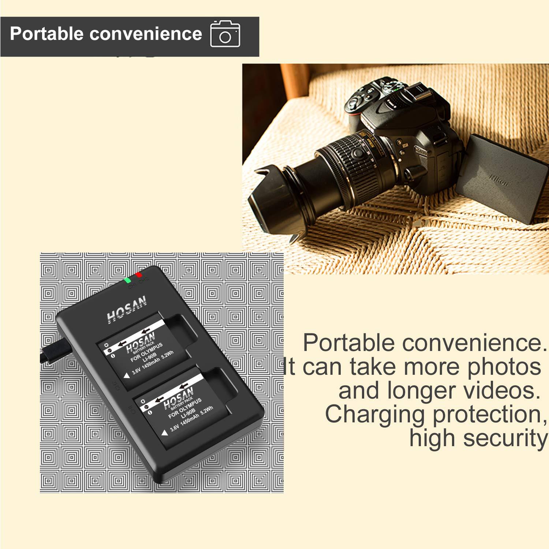 Canon LP-E17 HOSAN 2 Batteria di Ricambio da 1300mAh Compatibile con Serie Canon LP-E17 Canon EOS M3 M5 M6 200D 750D 760D 800D Rebel T6i T6s 8000D 9000D Kiss X8i Kiss X9