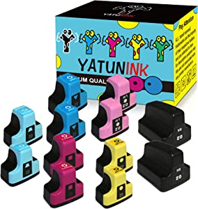YATUNINK Remanufactured 02 Ink Cartridge Replacement for HP 02XL 02 Printer Ink Cartridges PhotoSmart C6280 C7280 C5180 C6250 3108 3110 3210 3310 D7155 D7160 D7245 D7255 D7363 D7460 Printer(12 Pack)