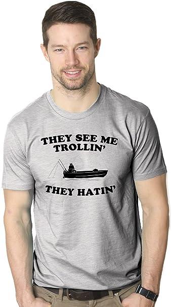 They See Me Trollin T Shirt Funny Fishing Shirts Fish Jokes Summer Camping