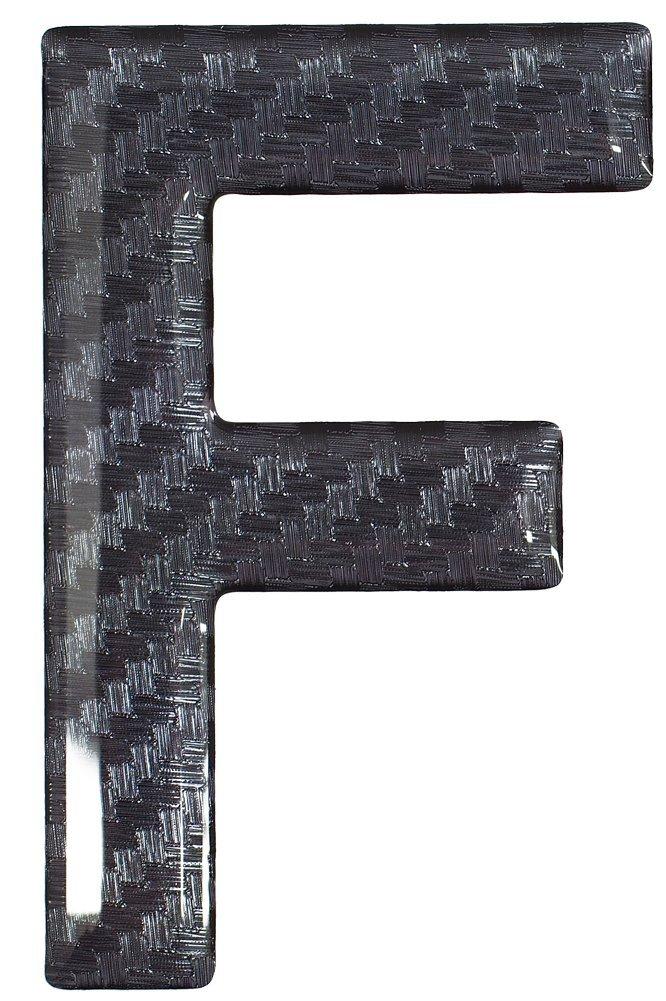 SET OF 10 Highline Gel Domed Self Adhesive Number Plate Digit S