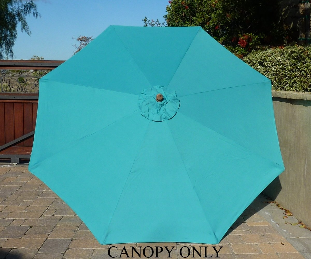 Amazon.com : 9ft Umbrella Replacement Canopy 8 Ribs In Turquoise Olefin ( Canopy Only) : Outdoor And Patio Furniture Accessories : Garden U0026 Outdoor