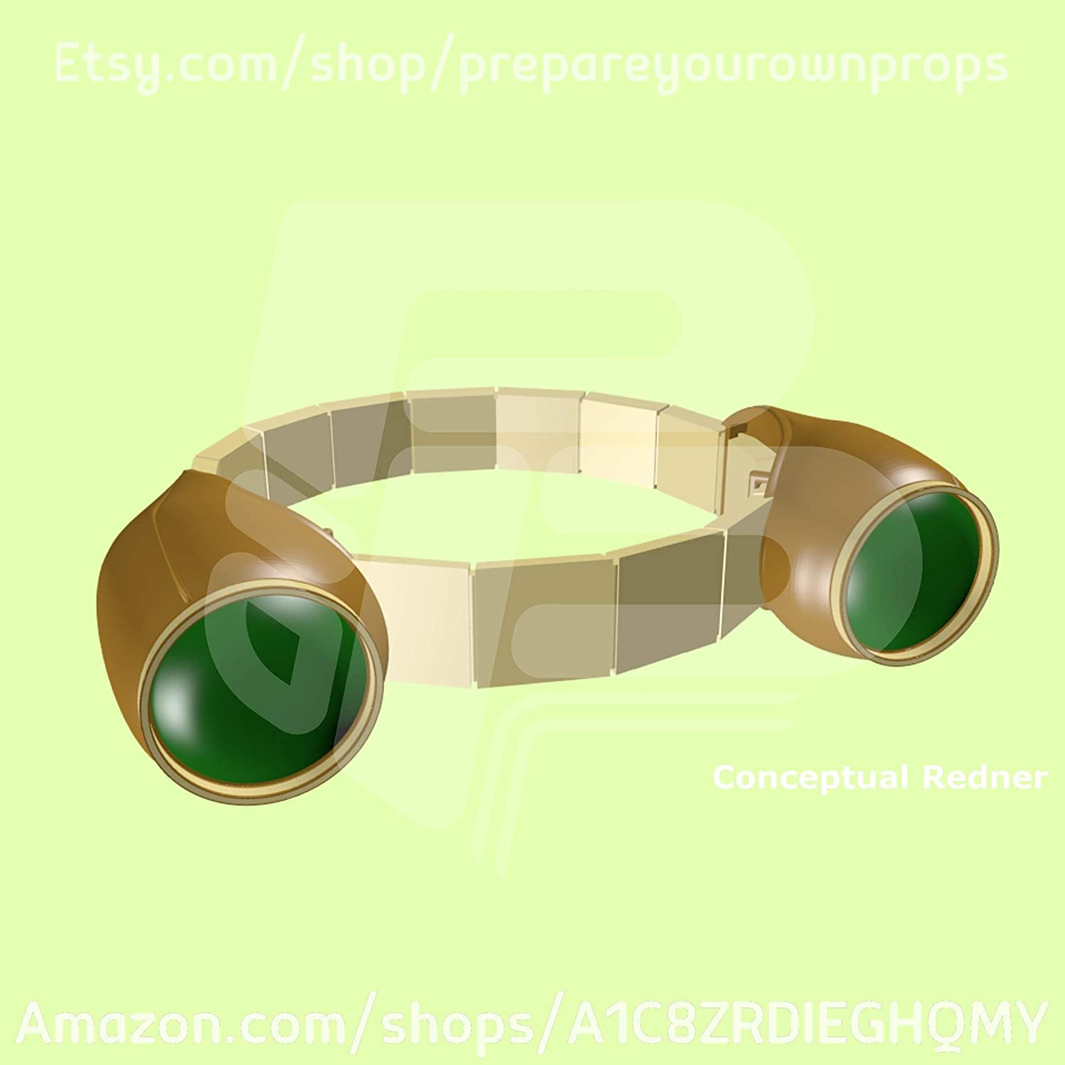 3D Printed Tsuyu Asui'Froppy' Goggles Kit