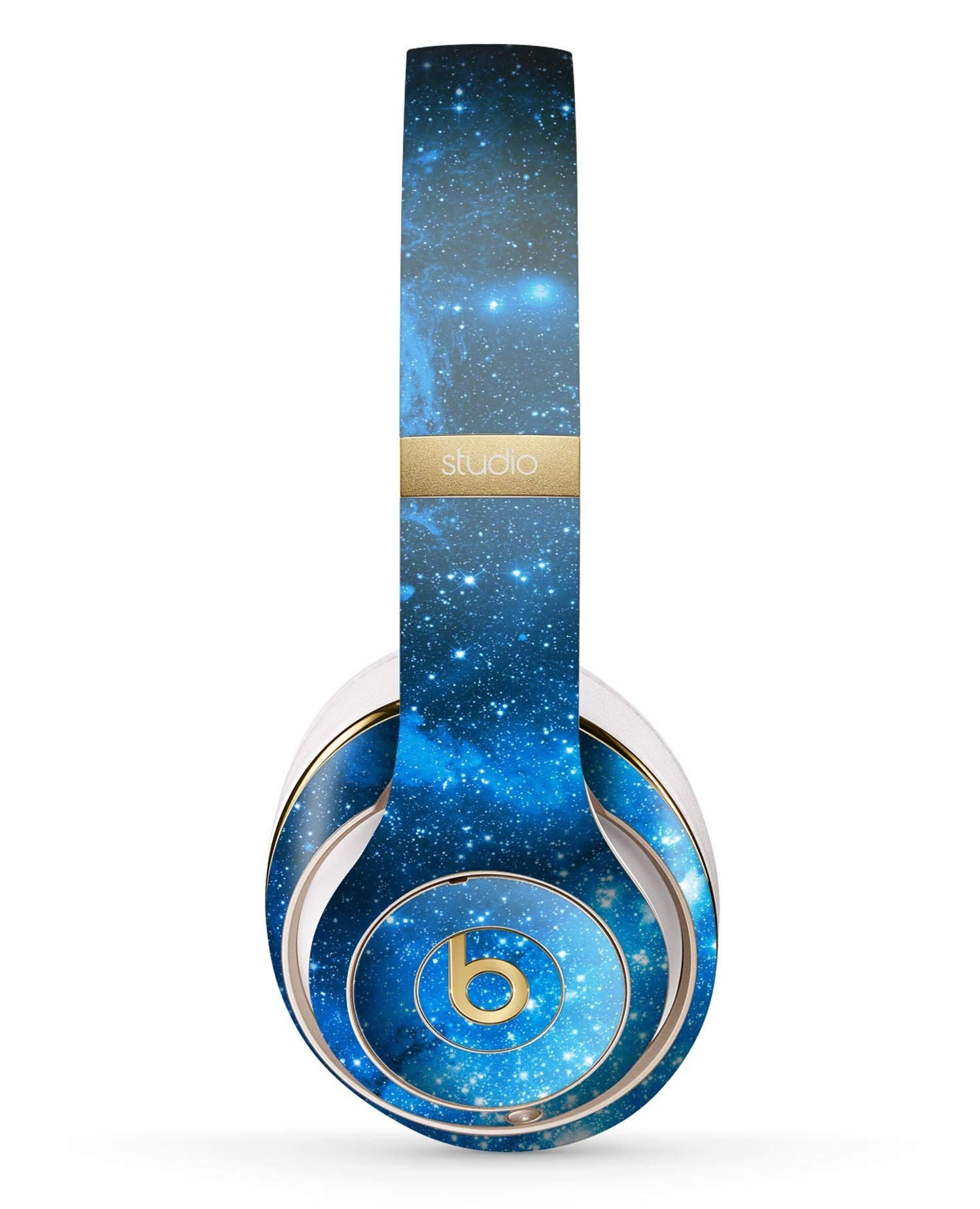 Blue Hue Nebula Design Skinz Full-Body Premium Authentic Skin Kit for The Beats by Dre Studio 2 or 3 Remastered Wireless Headphones Ultra-Thin Protective Decal Wrap
