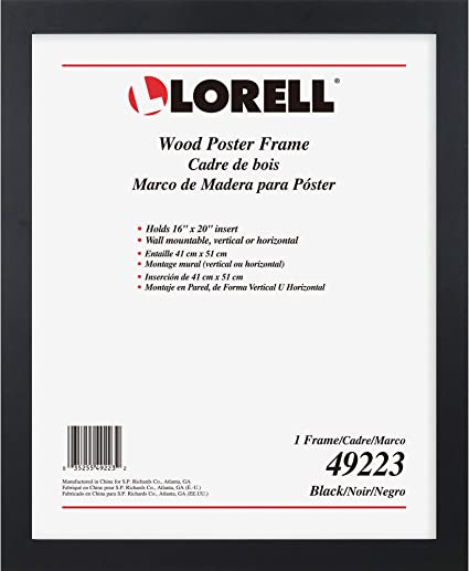 "Burnes Poster Frame Wall Mountable Horizontal 24/"" X 36/"" Insert Vertical"