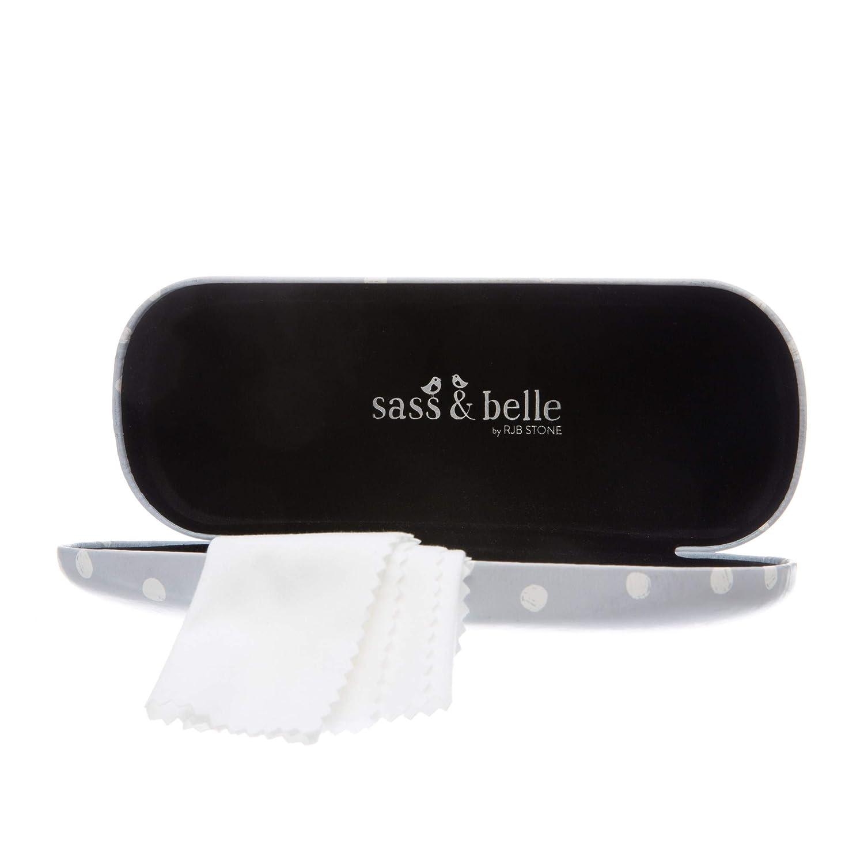 Astuccio Sass /& Belle Donna Bianco bianco Etichettalia unica