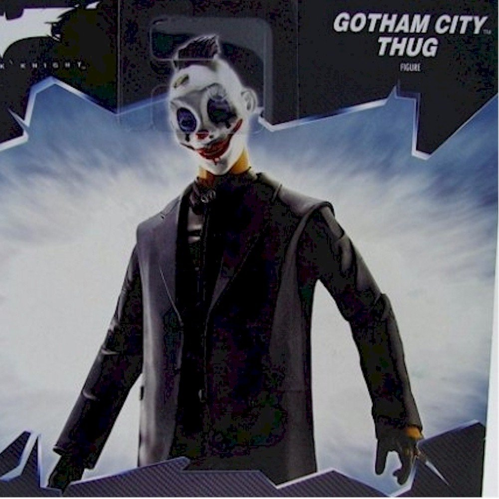 Movie Masters 6 Inches Action Figure The Dark Knight Movie Gotham City Thug Happy Mask