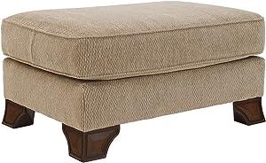 Ashley Furniture Signature Design - Lanett Ottoman - Plush Top Foot Rest - Traditional Design - Barley