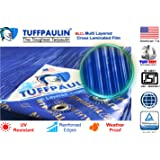 TUFFPAULIN (6x6 ft, Blue) Tarpaulin Sheet Waterproof |UV Treated|Multi Layered-Cross Laminated|Virgin Plastic Extra Strong Tirpal Tarpal IS14611:2016 Approved (120 GSM)