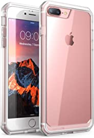 Funda para iPhone 8 Plus, SUPCASE Unicorn Beetle Series Premium híbrida, funda protectora transparente para Apple iPhone 7 Plus 2016/iPhone 8 Plus 2017 (color rostro/transparente)