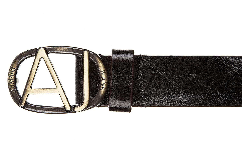 Armani Jeans cinturón de hombre en piel nuevo ardiglione negro EU 90 931000  6A815 00020  Amazon.es  Zapatos y complementos e7da69dfdbb5
