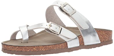 67a8040030a Madden Girl Women s Bryceee Toe Ring Sandal Silver Paris 6 ...