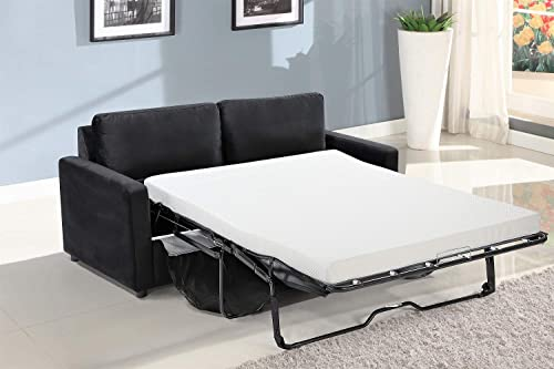 US Pride Furniture Knightsville Velvet 70 ' Square Arms Sofa Bed Sofabed