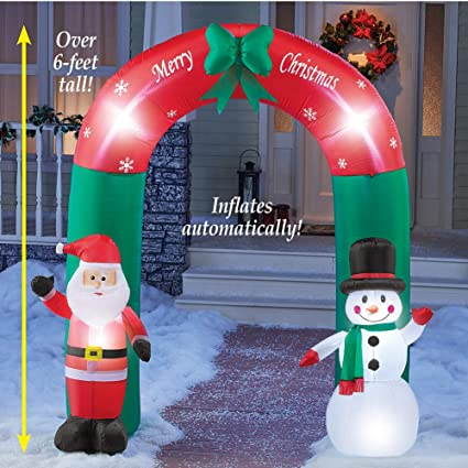 winston inc Santa and Frosty Snowman Winter Inflatable Christmas Arch 6'  Outdoor Yard Decor - Amazon.com: Winston Inc Santa And Frosty Snowman Winter Inflatable