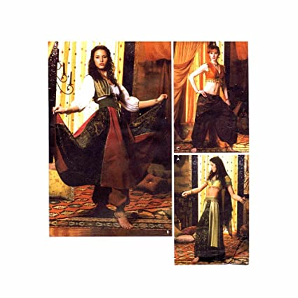Amazon.com: Simplicity 5359 Sew Pattern ~ Misses Belly Dancing ...