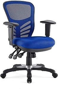 Modway Articulate Ergonomic Mesh Office Chair in Blue (Blue {New Version}, Articulate)