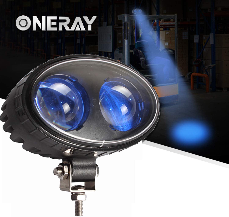 Amazon Com Oneray Led Forklift Safety Light 8w Blue Spot Lights For Warehouse Warning Spot Light Cree Chip Dc10 100v 250lm 5 5inch Automotive