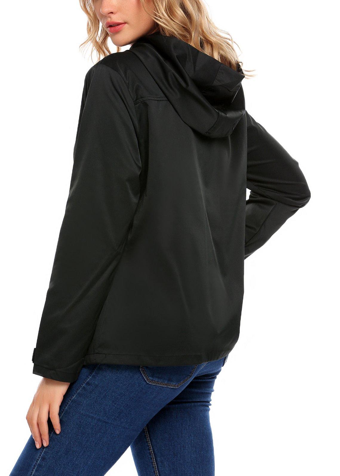 SummerRio Women's Waterproof Venture Resolve Softshell Rainwear Jacket (Black,Medium) by SummerRio (Image #3)