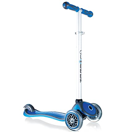 Amazon.com : Globber 3 Wheel Adjustable Height Scooter (Blue ...