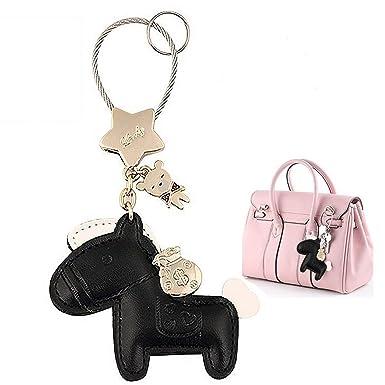 Amazon.com: Lindo caballo llavero llaves del coche de piel ...