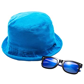 Amazon.com  EYEGUARD UV400 Kids Sunglasses   Sun Hat Set Glasses for ... 72b832f797d