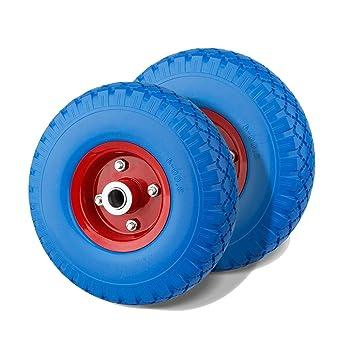Mafamily Rueda de poliuretano 3.00 - 4 ruedas de rueda para carretilla, neumático de goma