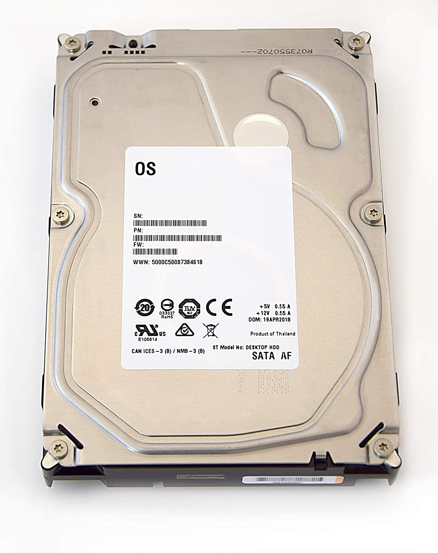 White Label interno HDD Barracuda Desktop HDD da 3,5 ', 8,9 cm, PC, HDD, NAS, 7200 RPM, SATA-600, SATA3, Serial ATA ricertificato, Capacità:4.000GB (4TB)