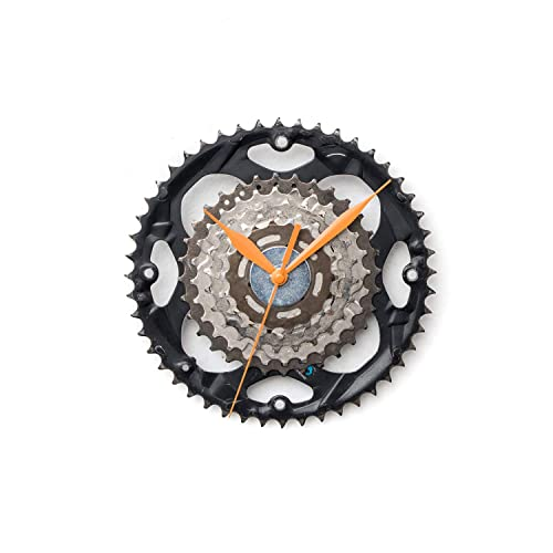 Handmade Wall Clock Made Out Of Recycled Bike Parts Amazon Co Uk