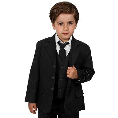 de977878f Amazon.com: Johnnie Lene Boys Cotton/Linen Black Summer Suit From ...