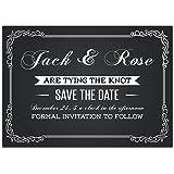Chalkboard Save the Date Card Wedding Invitation
